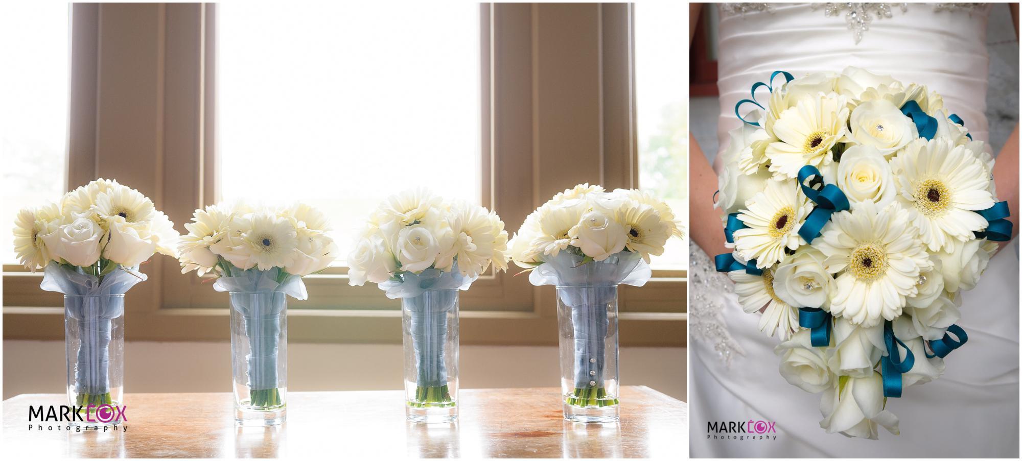 Gorgeous White Wedding Flowers - Taunton Wedding Photographer-001