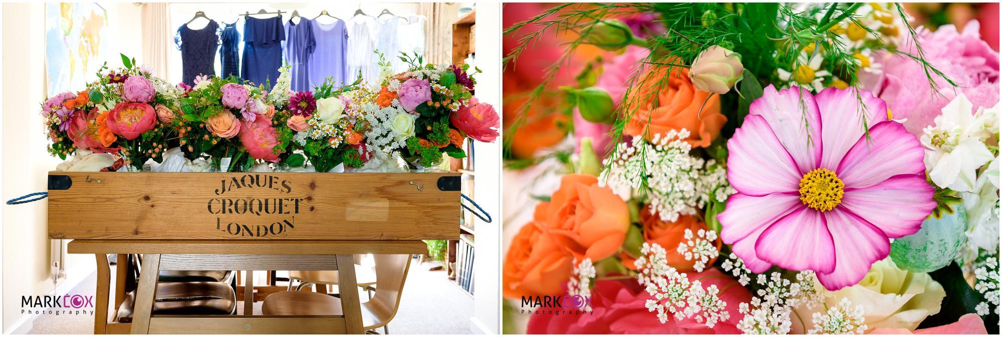 Gorgeous Pink flowers - Taunton Wedding Photographer-001