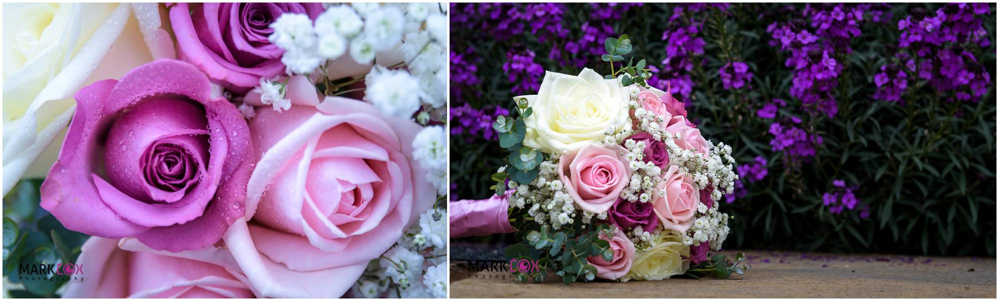 Pink Roses Wedding Flowers - Taunton Wedding Photographer -001