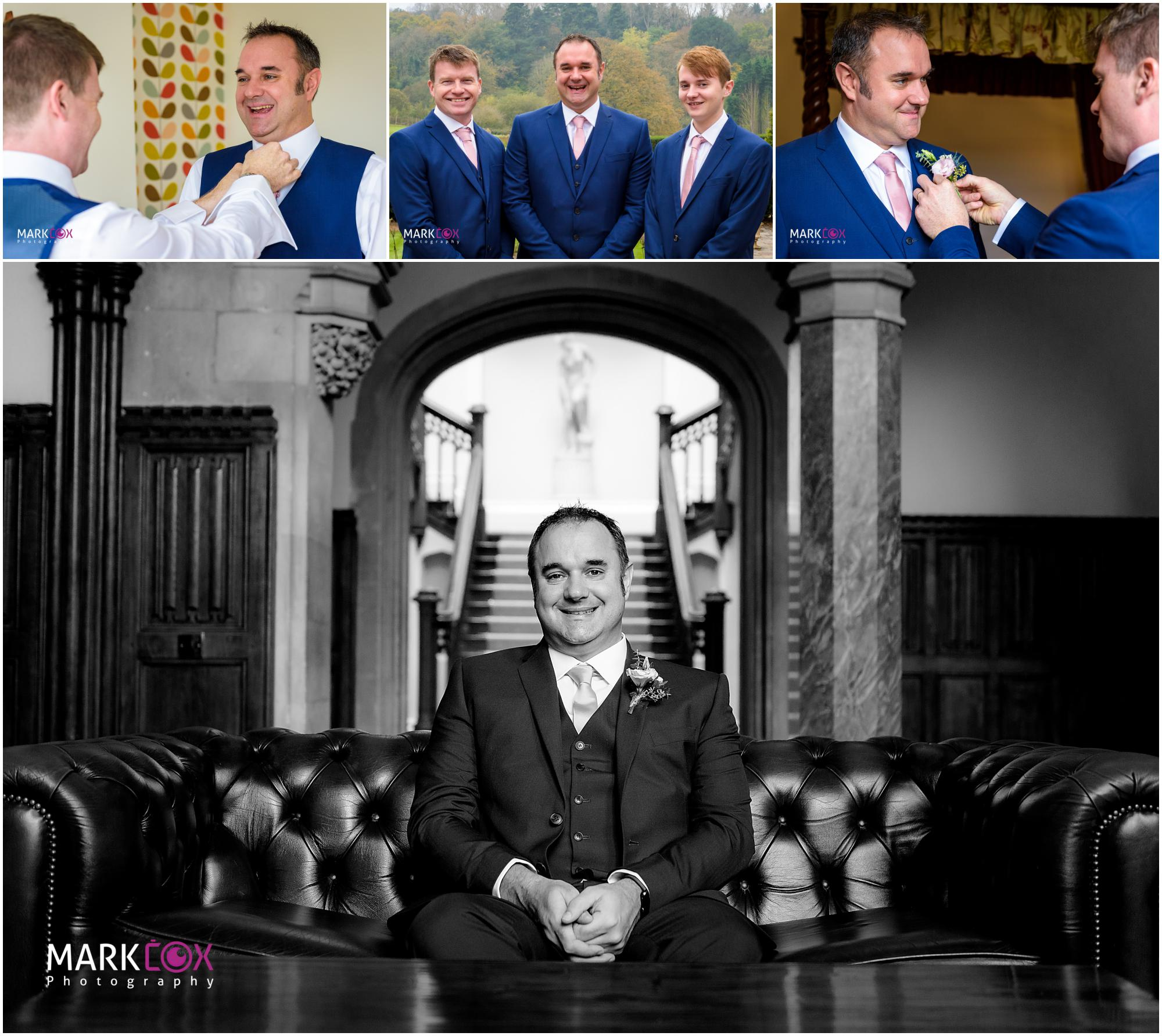 Boys getting ready at St Audries Park - Somerset Wedding Photographer-001