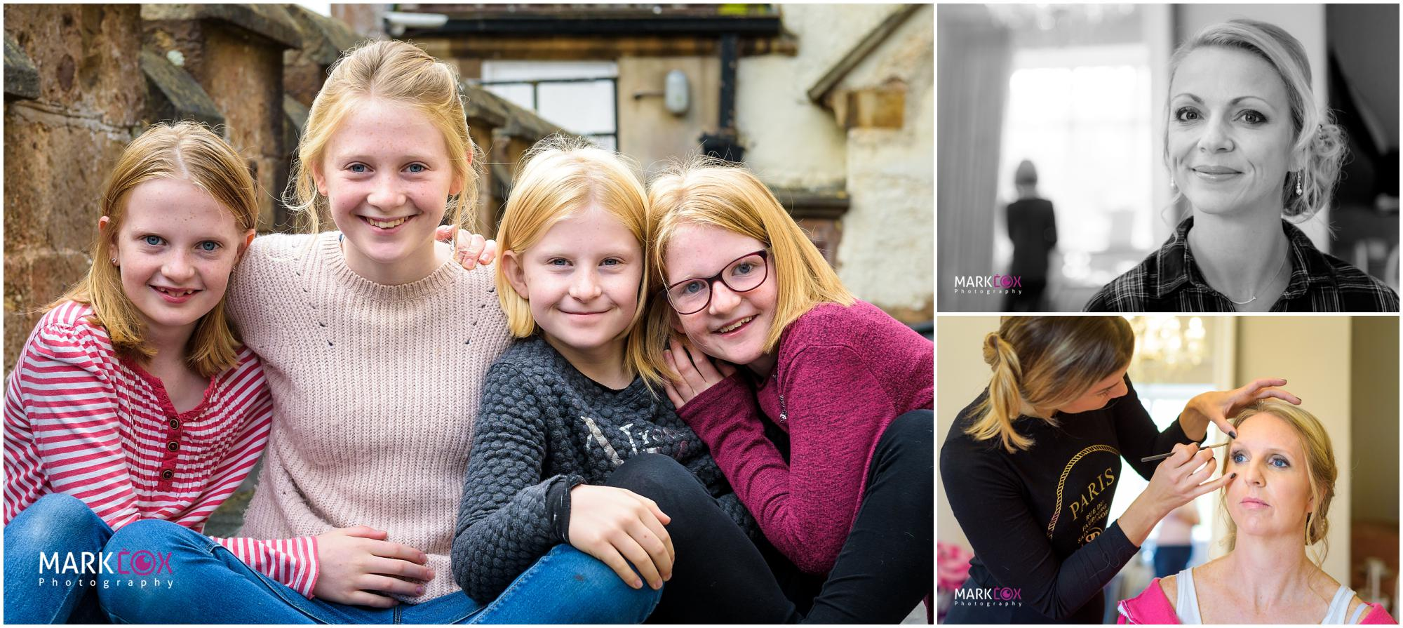 Girls getting ready at St Audries Park - Somerset Wedding Photographer-001