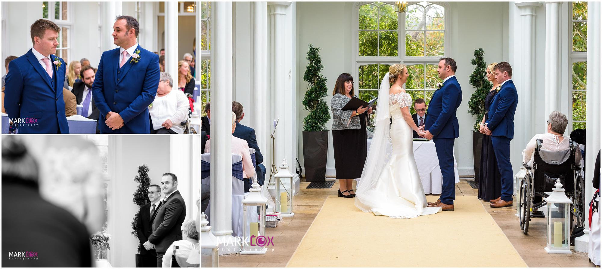 The wedding service at St Audries Park - Somerset Wedding Photographer-001