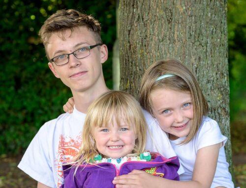 Family portraits capturing memories