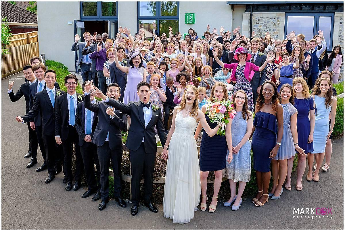 the whole wedding group